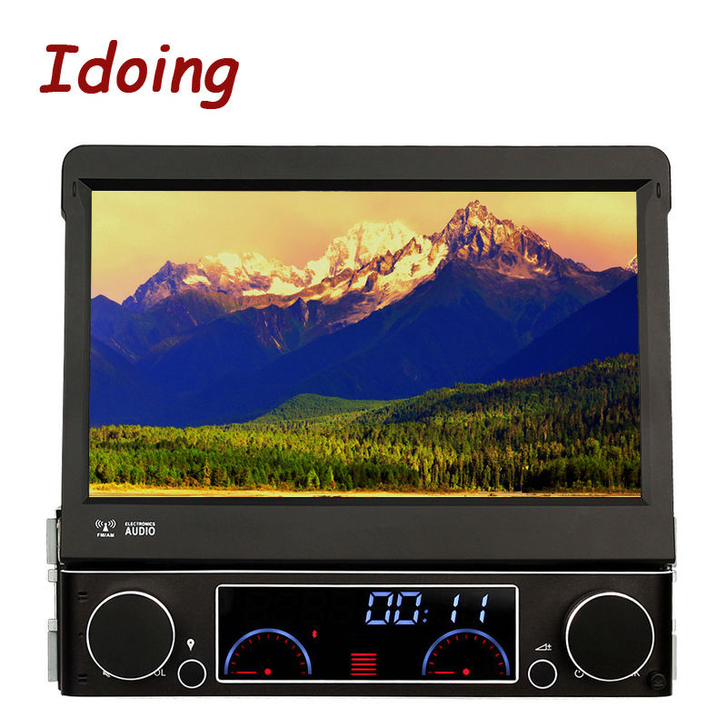 Idoing 7Inch Steering-Wheel 1Din For All Universal Car DVD Multimedia Player Wince6.0 Autoradio SD USB RDS Aux GPS Navigation 3G
