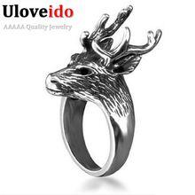 Uloveido олень нержавеющая сталь кольцо мужское мужские кольца