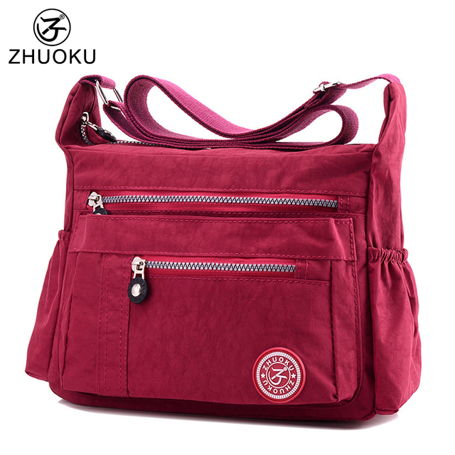 ac938130415 US $24.77 |ZHUOKU 7 Color New Women Crossbody Bags for Women's Handbags  Waterproof Nylon Female Shoulder Bag Ladies Messenger Bags B007-in Shoulder  ...