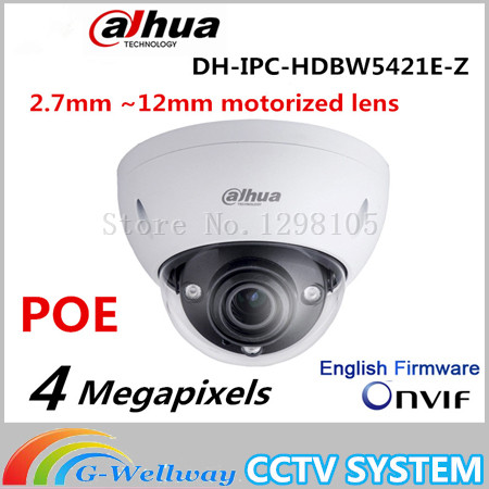 Original Dahua DH-IPC-HDBW5421E-Z 4MP POE HD 2.7mm ~12mm motorized lens 4MP Network Vandal-proof IR Dome Camera IPC-HDBW5421E-Z roth veronica divergent 3 allegiant film tie in