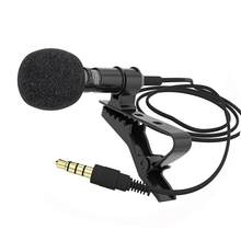 1.5m Omnidirectional Condenser Microphone for Recorder For iPhone 6S 7 Ppus Samsung Xiaomi Huawei Mobile phone pad DLSR Camera(China)