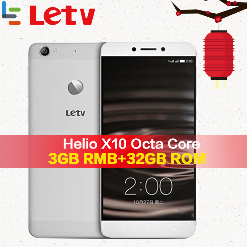 Original Letv Le 1 S X500 4G teléfono móvil 3G RAM 32G ROM Android 5,0 Octa Core 5,5 ''13MP huella dactilar ID Android Smartphone