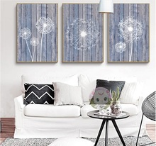 Nordic Simple Dandelion 3 Pieces Decorative Paintings Wall Art Print Picture Canvas Painting Poster for Living Room No Framed