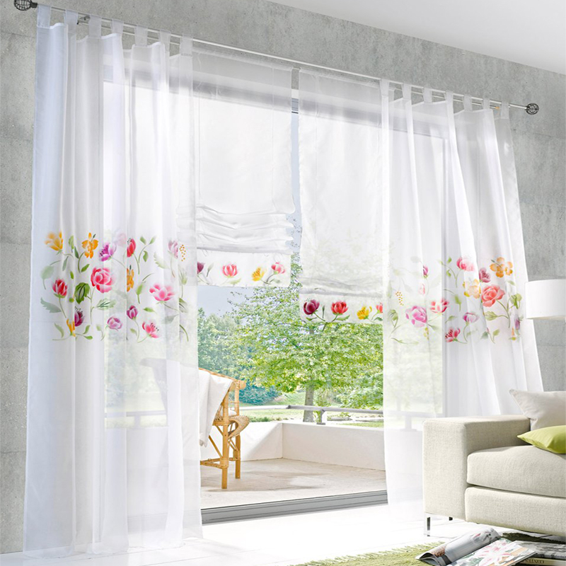 Rustic floral luxury window curtains for living room
