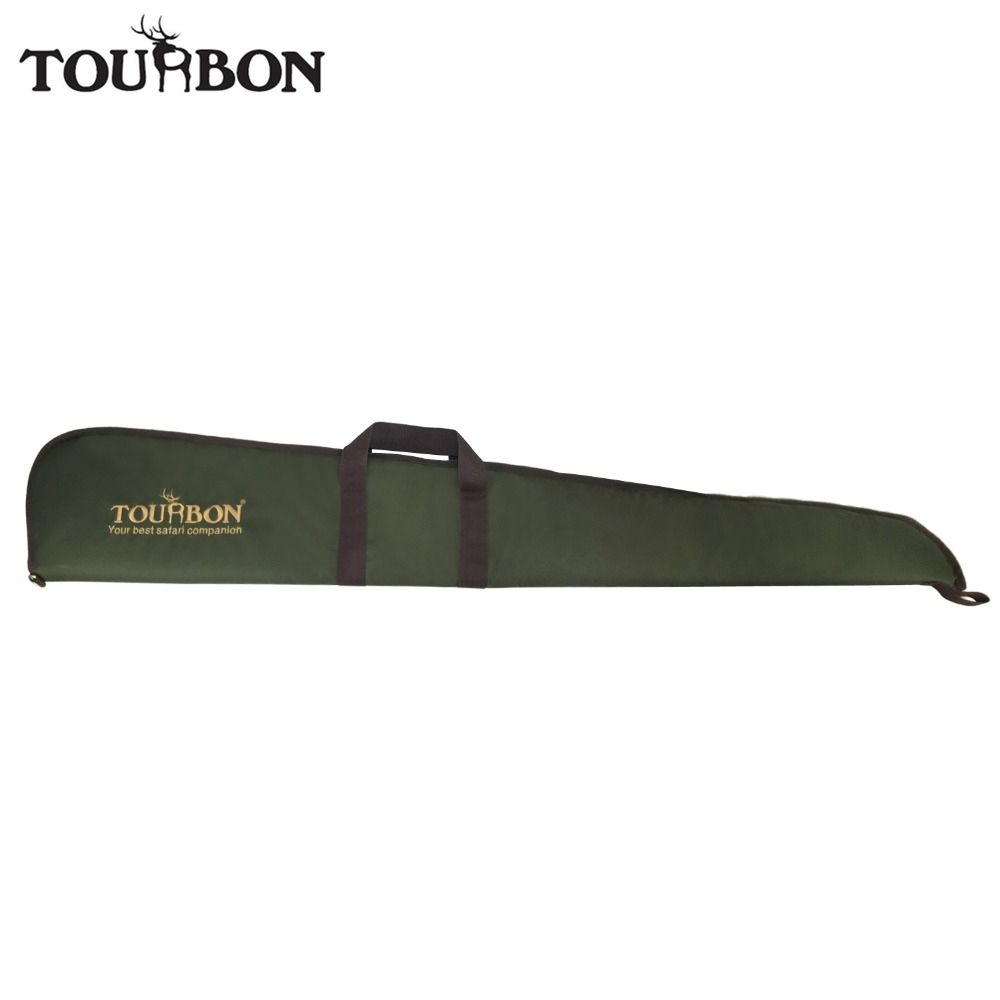 Tourbon Tactical Green Nylon Airsoft Slip Shotgun Case Soft Padded Gun Protection Bag Gun Carrying Carrier for Hunting tourbon tactical universal gun case hunting gun storage rifle shotgun carrier with lock gun accessories