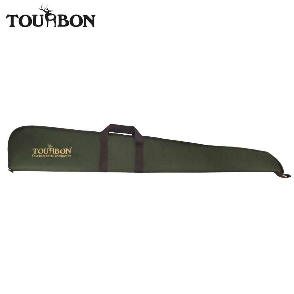 цена на Tourbon Tactical Green Nylon Airsoft Slip Shotgun Case Soft Padded Gun Protection Bag Gun Carrying Carrier for Hunting
