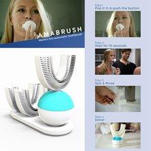 360 градусов автоматическая интеллектуальная упакованная ленивая зубная щетка электрическая быстрая Чистка звуковая отбеливающая подзаряжаемая зубная щетка