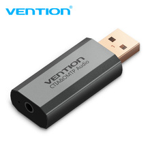 Vention USB Sound Card USB To 3.5mm Audio Earphone Adapter PUBG External Sound Card 7.1 Audio Card For Mic Headphone Computer PC