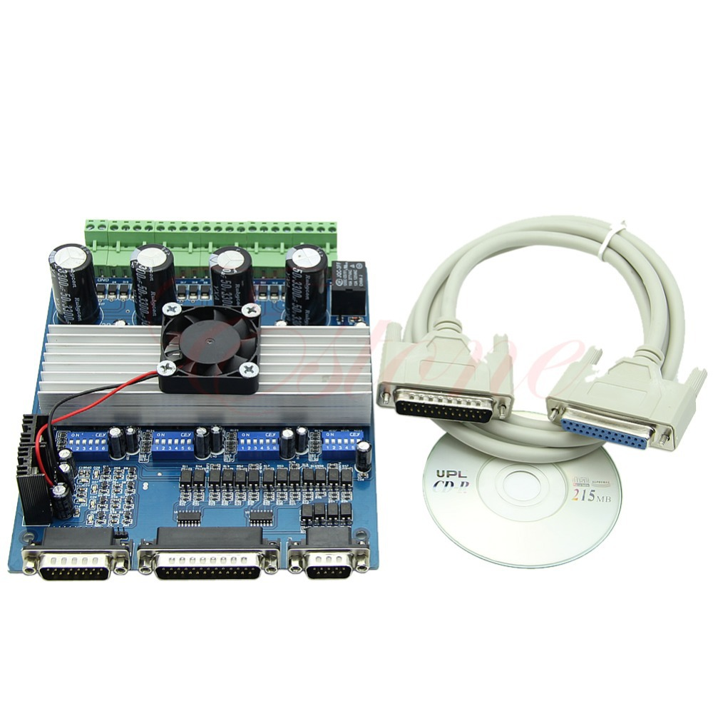 J34 Free Shipping Motor Driver CNC TB6560 4 Axis Stepper Controller Board For Engraving Machine