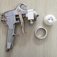цена на SAT1182 Professional High Quality Mirror Chrome Paint Adjustable Air Pressure Regulator Spray Gun Spray Foam Gun Machine