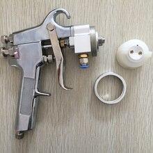 SAT1182 Profesional de Alta Calidad Pintura de Cromo Espejo Ajustable Regulador de Presión de Aire Pistola de Pulverización Pistola De Espuma Máquina