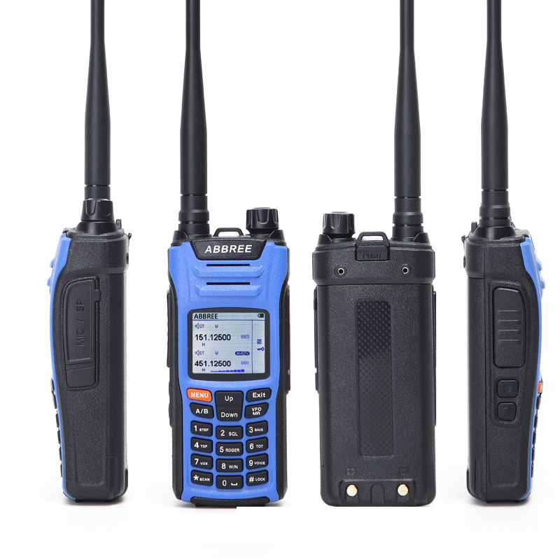 ABBREE AR F6 6 Bands Walkie Talkie Dual Display Dual 999CH Multi functional VOX DTMF SOS LCD Color Display Ham Radio-in Walkie Talkie from Cellphones & Telecommunications    2