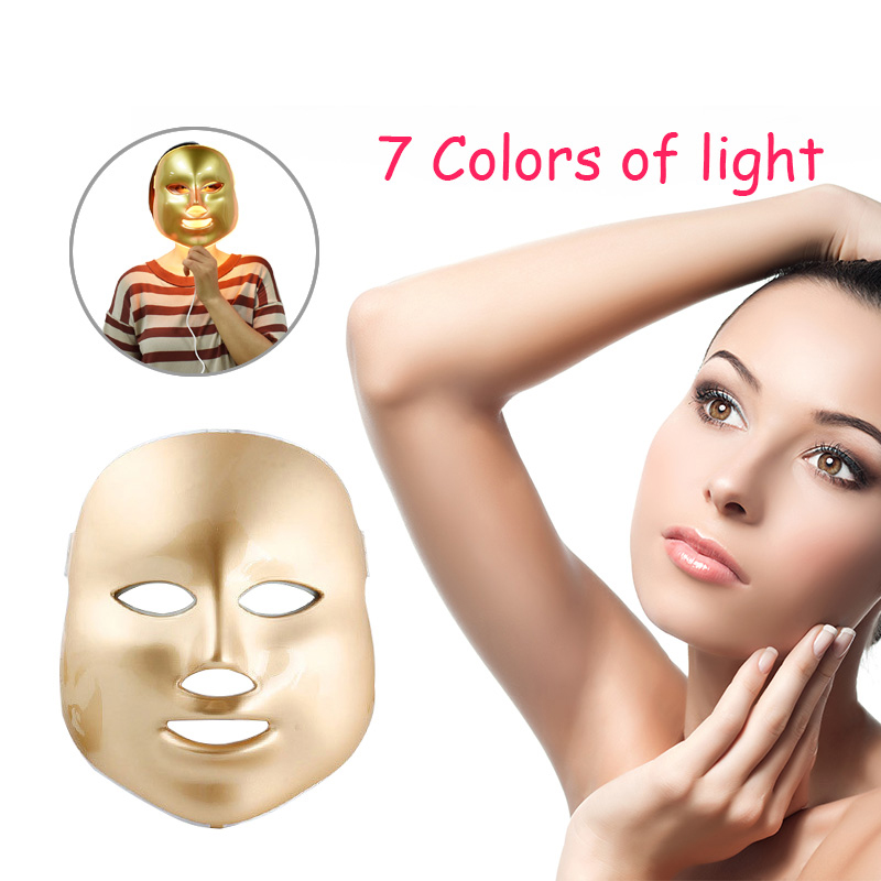 7 Colors PDT Photon Therapy LED Face Mask Skin Rejuvenation Wrinkle Acne Removal Anti-Aging SPA Facial Beauty Machine Raiuleko 7 colors light photon electric led facial mask skin pdt skin rejuvenation anti acne wrinkle removal therapy beauty salon