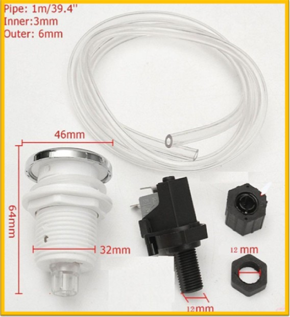 Bath Pneumatic Air Button Switch Kit for Spa Tub + good quality one year warranty + free shipping good quality one year guarantee proximity switch prcm30 15dp