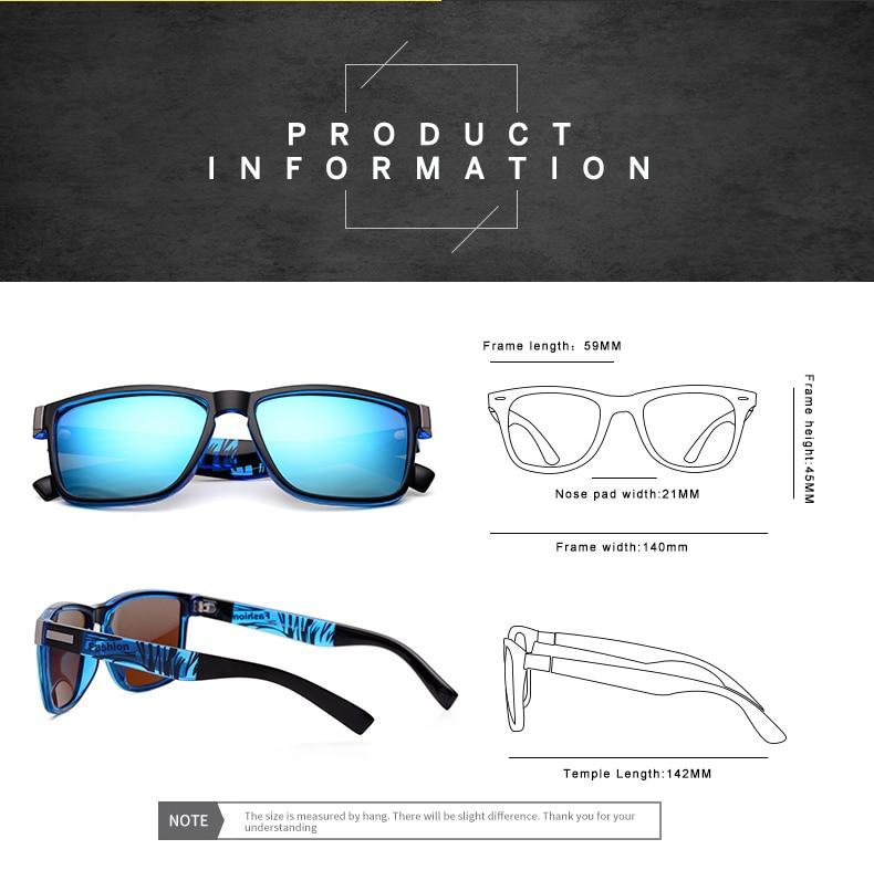 ASUOP 2019 New Men's Polarized Sunglasses UV400 Fashion Square Ladies'Glasses Classic Retro Brand Design Driving Sunglasses (14)
