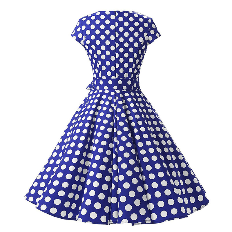 ef1b6a77f5 Black And White Polka Dot Dress Women Short Sleeve Bow Tie Summer Dress  2018 Female Casual