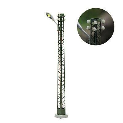 LQS59HO 3pcs Model Railway lights Lattice Mast lamp Track light HO Scale Layout 4