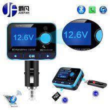 Автомобиль ЖК-дисплей fm-модулятор Беспроводной Bluetooth fm-трансмиттер громкой связи car kit Батарея Напряжение Дисплей USB Зарядное устройство mp3 плеер