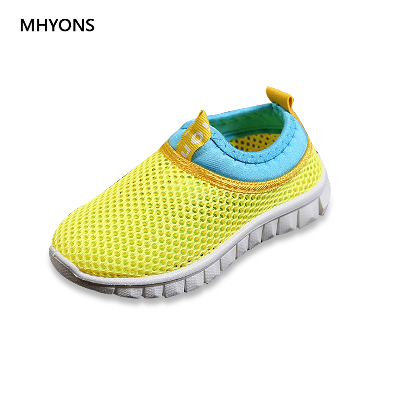 MHYONS rubber closed toe sandals, children's 2018 summer Cut-Outs Air mesh shoes boys and girls Unisex fashion sandals for kids