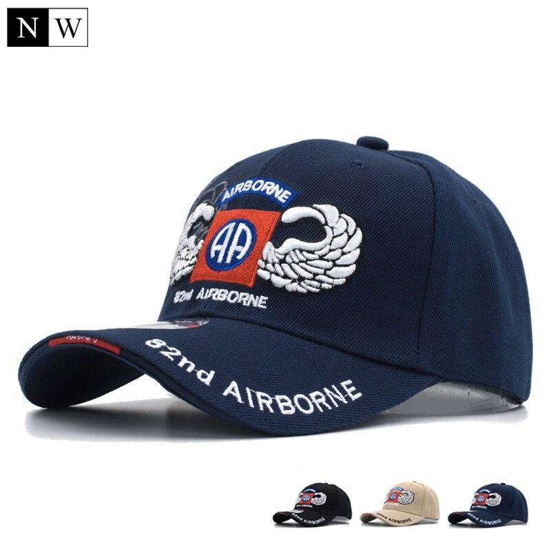 Prix pour [NORTHWOOD] 2017 82e ariborne tactique casquette de baseball hommes marque armée cap gorra snapback chapeaux casquettes pour hommes taille 56-59 cm