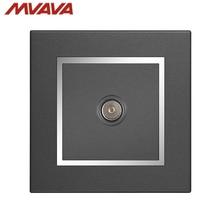 MVAVA TV Wall Decorative Receptacle Smart Television Outlet Universal Plug Jack Luxury Chromed Black Socket Free Shipping