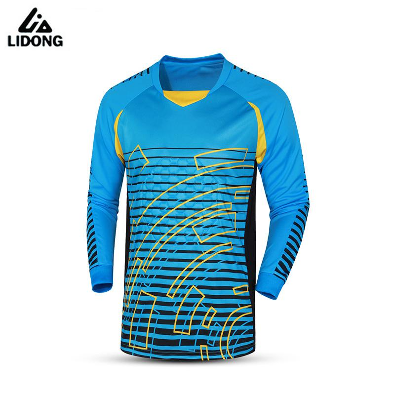 2017 Soccer Goalkeeper Jerseys Sponge Protector Football Goal Keeper Doorkeepers Shirts Training Pants Goalie Kits Uniforms