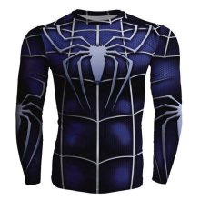 Spiderman Batman  Fitness Compression Shirt Men Superman  Captain America Bodybuilding Long Sleeve 3D T Shirt Tee
