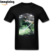 Pure Cotton O-neck One Piece Roronoa Zoro T Shirts Men's Make Your Own Tee Tops Wholesale