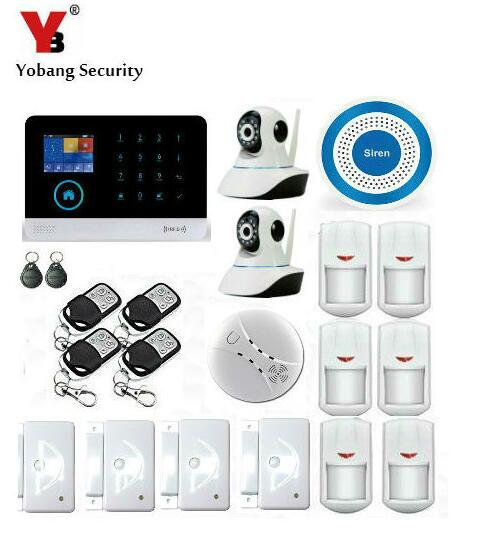 Yobang Security Touch Screen 3G GSM Alarm System WIFI SMS Smart Home Burglar Alarm With IP Camera For Baby/Pet/Elder Monitor 16 ports 3g sms modem bulk sms sending 3g modem pool sim5360 new module bulk sms sending device