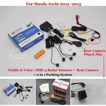 For Mazda Axela Sedan 2013 2014 2015 Car Parking Sensor Sensors Alarm System Auto HD Rear View Reverse Camera