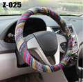 Universal 38cm 15'' Car Auto Steering-Wheel Cover Steering Wheel Wrap Natural Fibers Anti Slip Breathable national customs Z-025