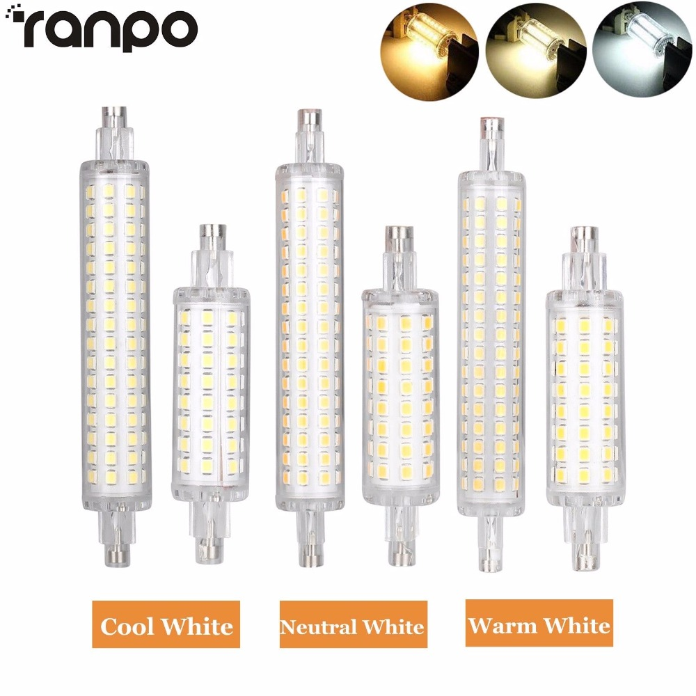 R7S 78mm 118mm LED Flood Light Bulb 2835 SMD 12W 16W Replacement Halogen Lamps J78 J118 LED Corn Lamparda r7s 110V 220V r7s led bulb 78mm 10w led corn bulb 118mm 20w ac 220v r7s 4014 smd silicone leds lamps replace halogen 60w 120w light