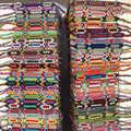 50 шт./лот многоцветные винтажные богемные плетеные хлопковые веревки наручные Браслеты Этнические браслеты для мужчин и женщин