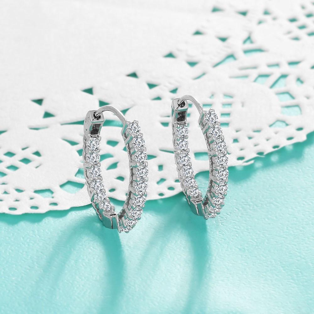 حلق الفضة 925 حجر الزركون 4