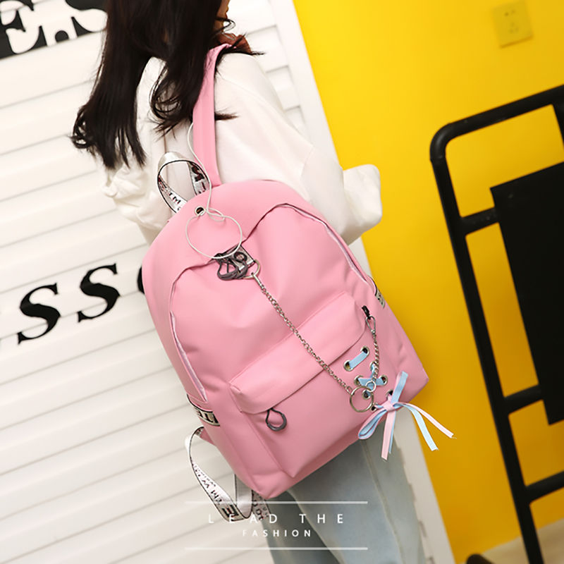 Large Capacity Backpack Women Preppy School Bags For Teenagers Female Nylon Travel Bags Girls Bowknot Backpack Mochilas