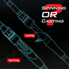 Portable Carbon Bait Casting Rod with Guide Ring
