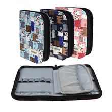 New Crochet Hook Knitting Kit Pouch Cute Cats Style Storage Bag Empty Box Case Organizer For Sewing Needles Tool