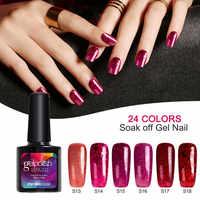 Modelones 190 Farbe Glitter Farbe Gel Polish Nagel Lange Anhaltende Rot Farbe Serie UV Nagellack Polnischen Soak Off Pailletten nagel Gel