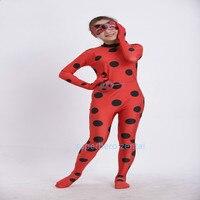 Lady Bug Cosplay Costume Fullbody Elasticity Spandex Female Superhero Costume Game Cosplay Kids Halloween Catsuit Custom