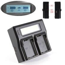 Çift LCD pil şarj cihazı Nikon EN EL15 EN EL15a D750 D610 D810 D7100 D7200