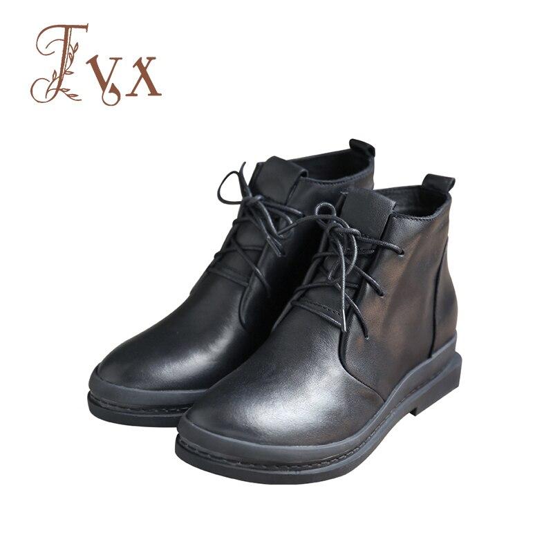 Tayunxing handmade shoes genuine leather lace-up platform med heel single/short plush comfort ankle women boot 3209-2 кровать comfort plush 152х203х56см со встроенным насосом 220в intex 64418