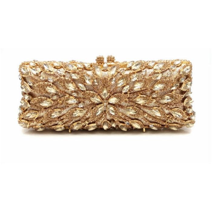Minaudiere Banquet Handbag Diamonds Women Geometric Evening Clutch Bags For Party