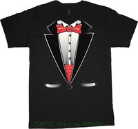 T Shirts Man Clothing Free Shipping Big And Tall T Shirt Tuxedo Wedding Bachelor Party Funny