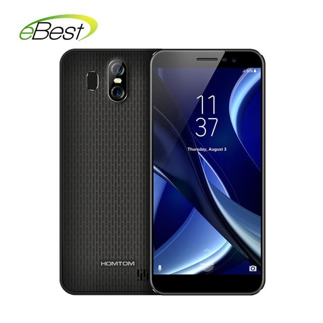 "HOMTOM S16 Dual Camera 3G Android phone 2G RAM 16G ROM 3000mAh MTK6580 Ouad Core 5.5"" 1280*640 Fingerprint Mobile Phone"
