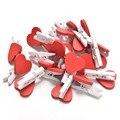 20 Unidades/pacote Mini Amor Do Coração De Roupa de Madeira Photo Paper Peg Pin Clothespin Craft Postal Clipes Para Casa Decoração de casamento