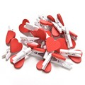 20 Unids/pack Mini Heart Love Ropa De Madera Papel Fotográfico Clavija Clavijas Clothespin Craft Postal Clips Inicio Decoración de la boda