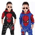 2-8 Т Мальчики Осень костюм Человек-Паук костюмы детский clothing set дети мальчики пальто + брюки костюмы