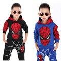 2-8 t niños otoño chándal trajes de spiderman para niños clothing set niños niños coat + pants trajes