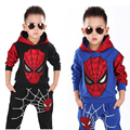 2-8T Boys Autumn tracksuit Spiderman suits children's clothing set kids boys coat + pants suits