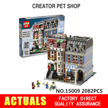City Street Creator Pet Shop Supermarket Model LEPIN 15009 2082pcs Building Block Kids Toys Mini Figures Compatible 10218 bricks